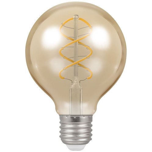 Crompton LED G80 Spiral Filament Antique Dimmable 6W 2200K ES-E27