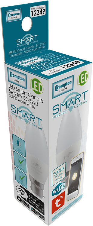 Crompton 5w BC Smart LED Candle 3K