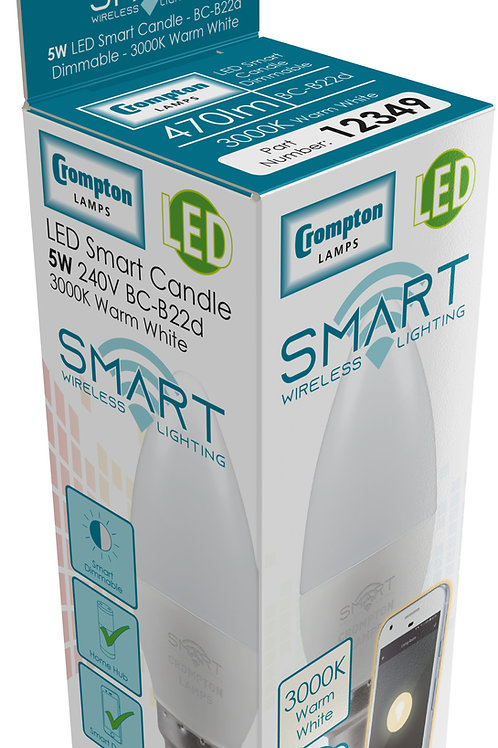 Crompton 5w BC Smart LED Candle 3K