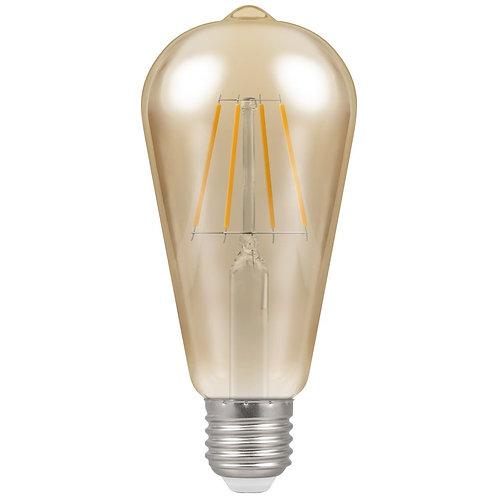 Crompton LED ST64 Filament Antique Dimmable 7.5W 2200K ES-E27