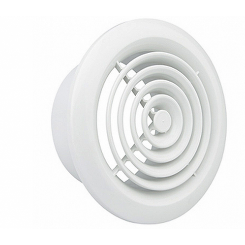 Air Vent White 4 Inch Circular Grille