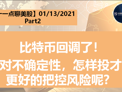 【十一点聊美股】比特币回调了!面对不确定性,怎样投才能更好的把控风险呢?01/13/2021( Part 2)