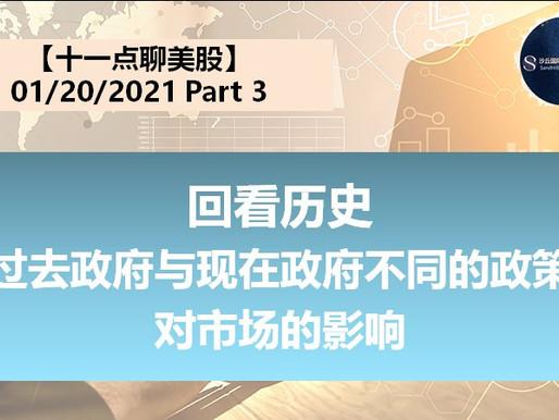 【十一点聊美股】回看历史, 过去政府与现在政府不同的政策,对市场的影响。 01.20.2021( Part 3)