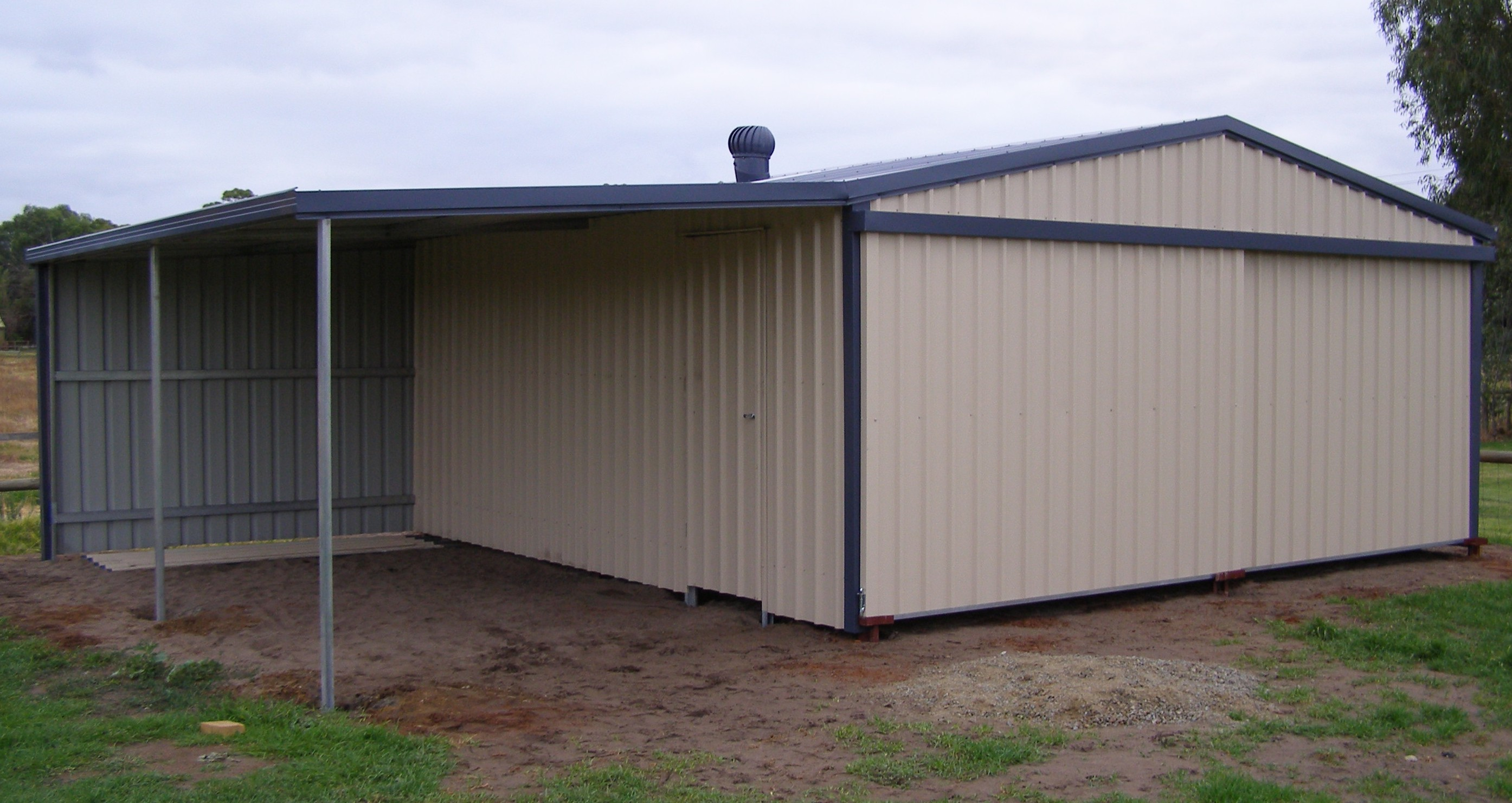 Storage Shed with Lean To WA