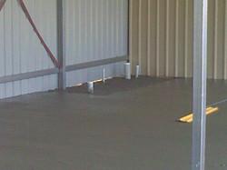 concrete corner for ensuite