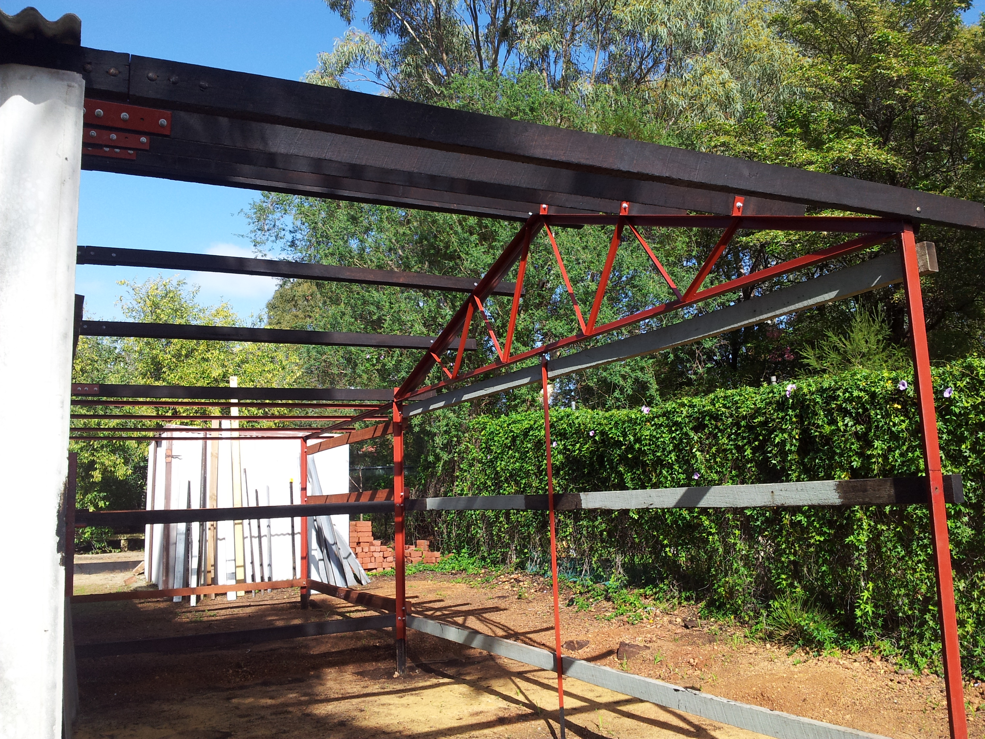 custom angle iron trusses