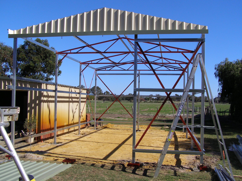 Steel Shed Frame 03| Coastline Sheds