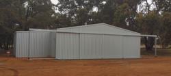 Hangar Bindoon WA with lean-to