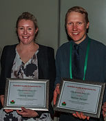 Agronomy Australia 2017 Young Agronomists of the Year Dr Felicity Harris and Dr Matthew Harrison