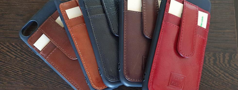 iPhone 6,7,8 Plus Card Case Genuine Italian Vegetable Leather