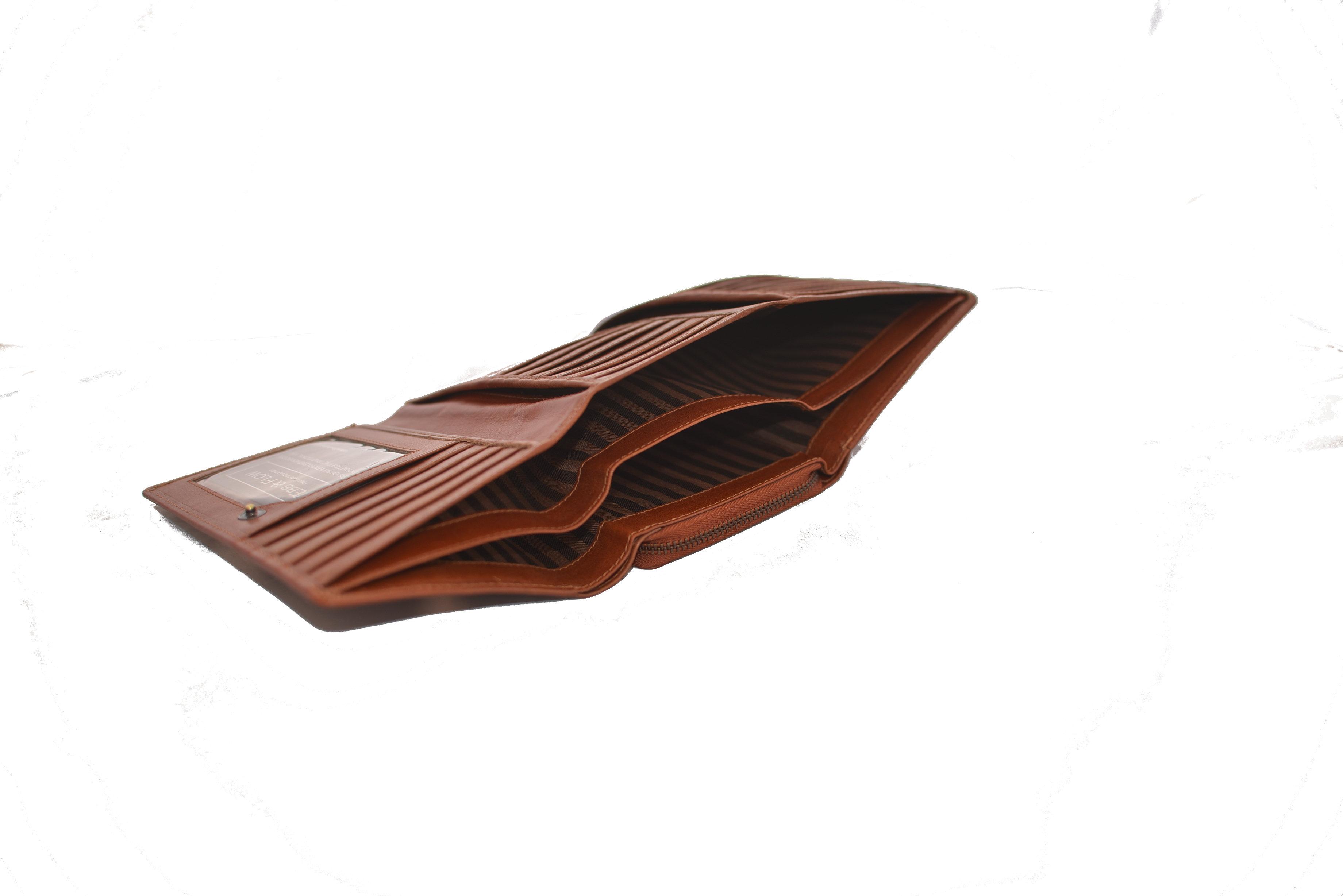 079458e041cc Ladies Women's Clutch Purse Natural Vegetable Tan Leather. >