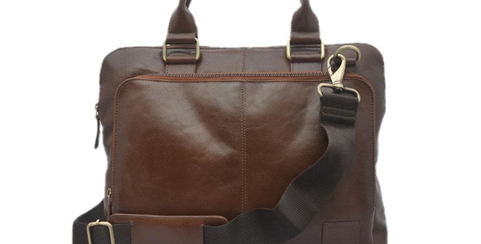 15″ Vegetable Tan Leather Satchel