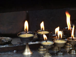 Candles, Nepal, Holy, Puja