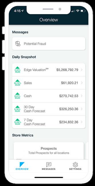 Ceterus Edge Mobile delivers financials on the go.