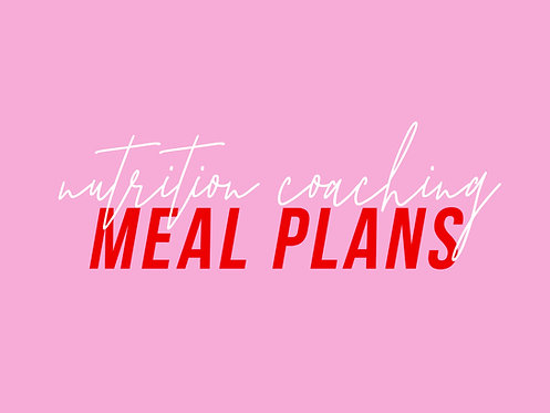 Nutrition Coaching Membership - Meal Plans