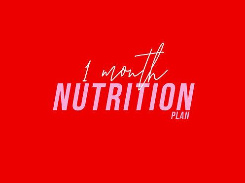 1 Month Macros & Meal Plans