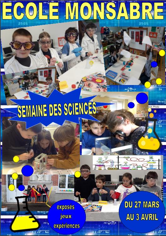 Semaine des Sciences - mars 2020
