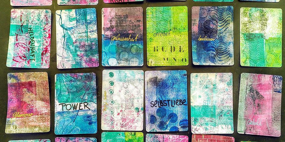 Workshop: Deine Kraft-Karten gestalten mit der Gelli-Plate (für Erwachsene)