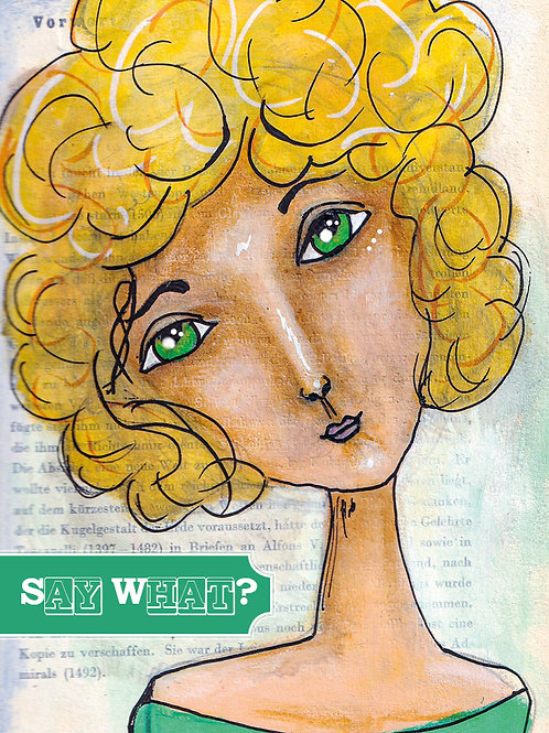 "Postkarte ""Say what?"""