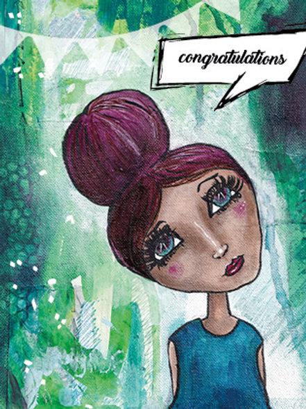 """congratulations"" Postkarte A6"