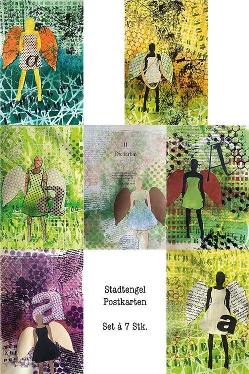 """SET: Postkarten """"Stadtengel"""" (7 Motive)"""