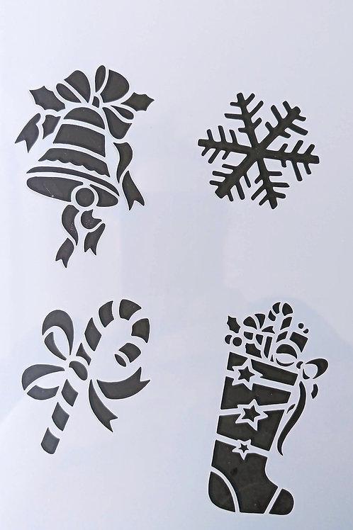 """Schablone """"Christmas 1"""" A5"""