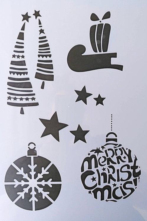 Schablone Christmas 3, A4