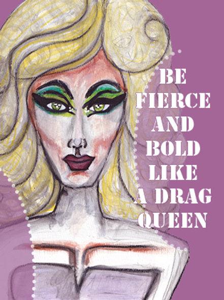 "Postkarte ""be fierce"""