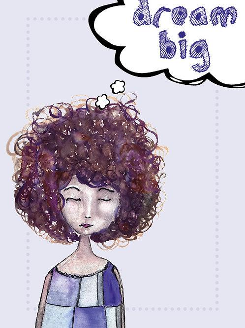 """dream big"" Postkarte A6"
