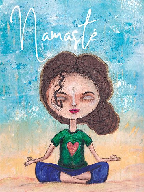 Postkarte Namasté