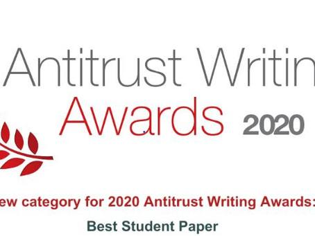 Antitrust Writing Awards: Best Student Paper