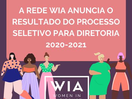 Conheçam as novas diretoras e gerentes do WIA, para a gestão 2020-2021!