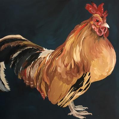Cockerel in Gouache