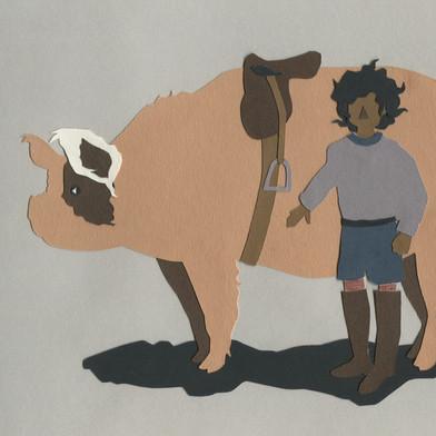 Pig Papercut