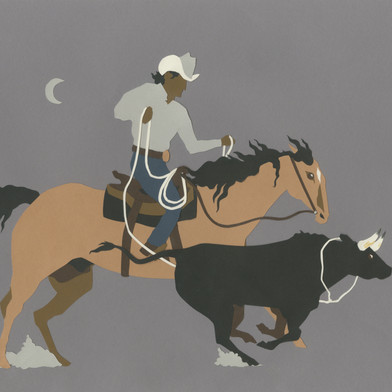 Cowboy Papercut
