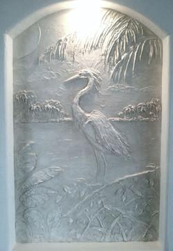 Carved Heron