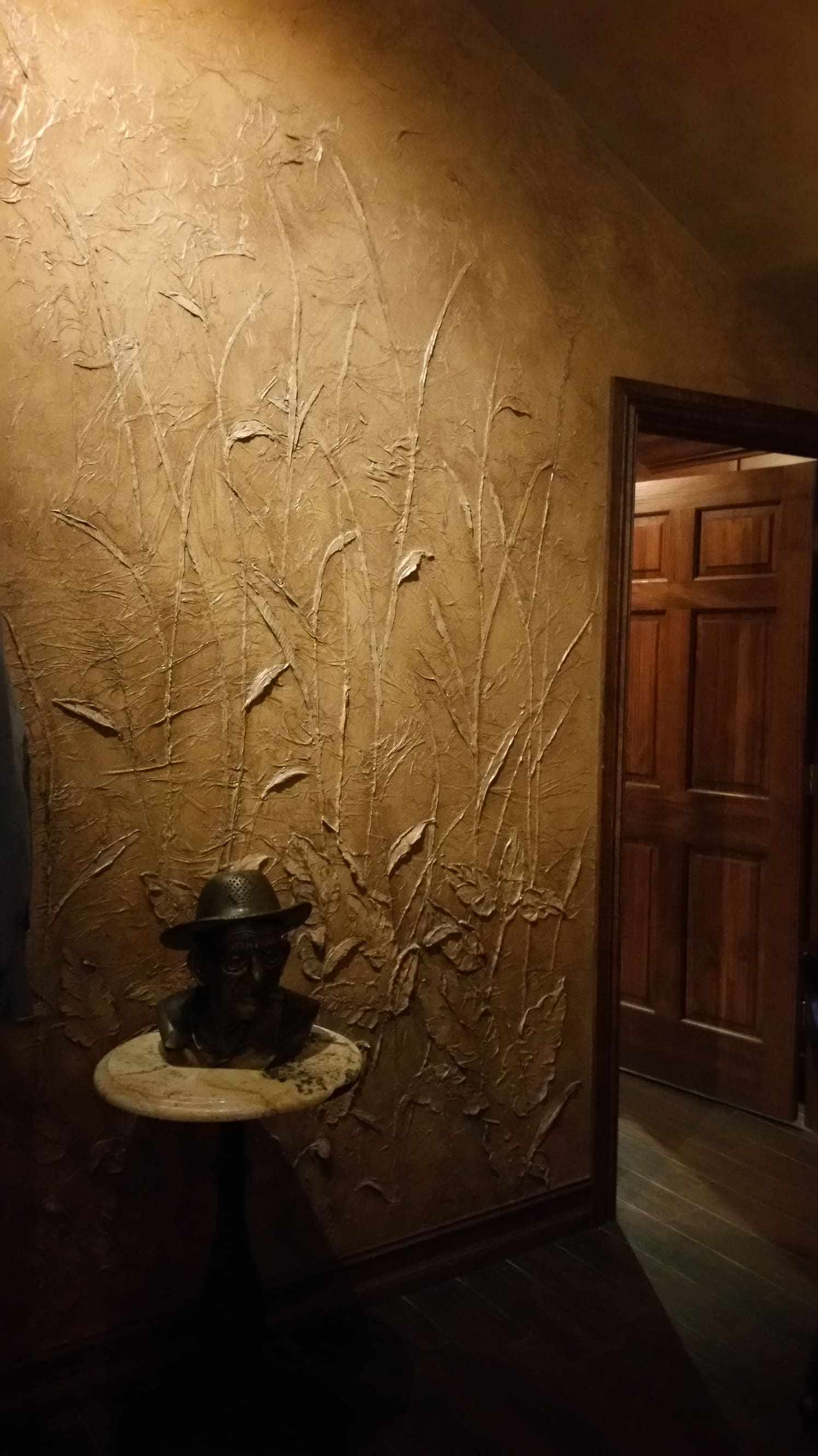 Carved Plaster walls