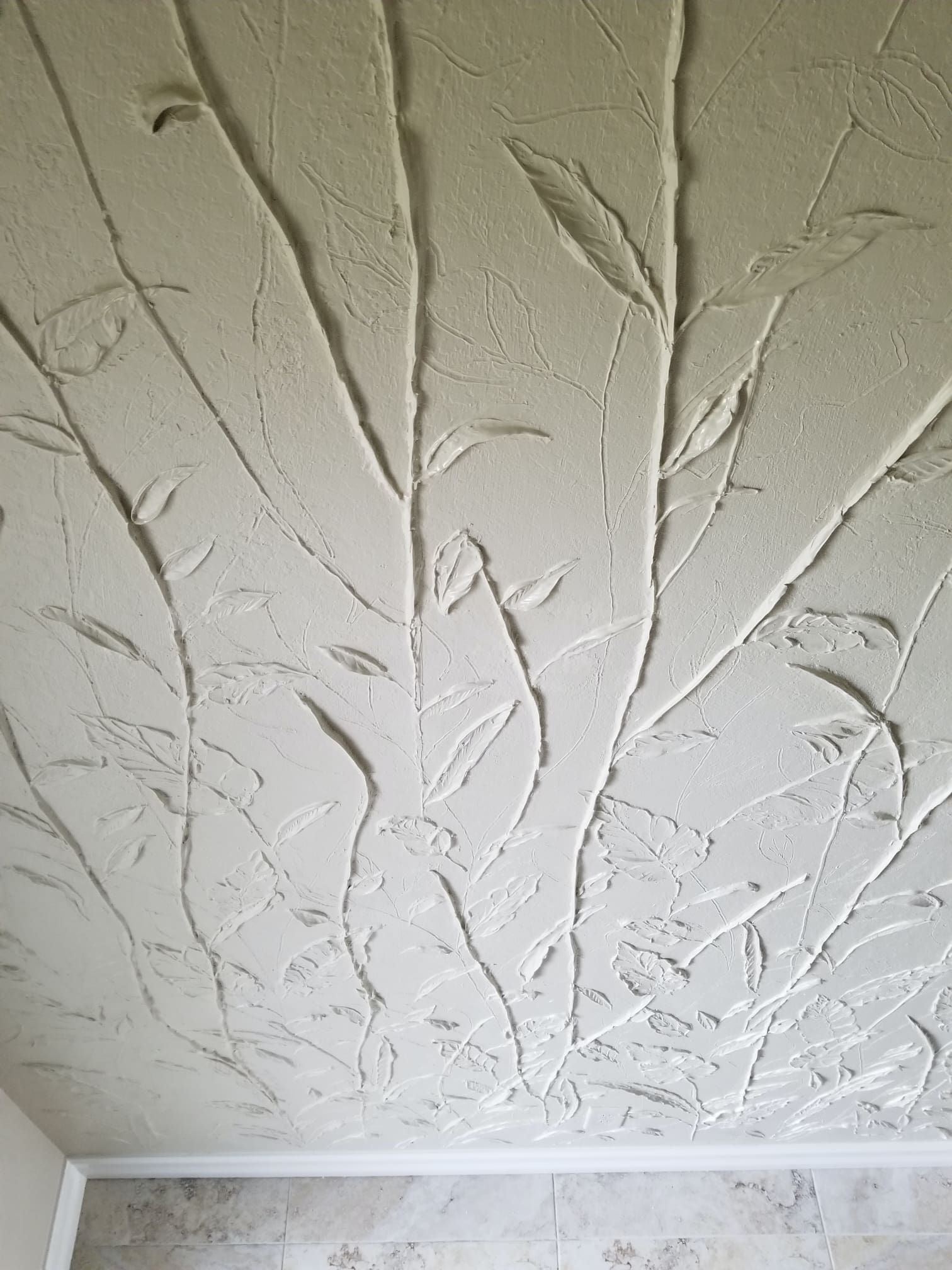 Carved Plaster leaves