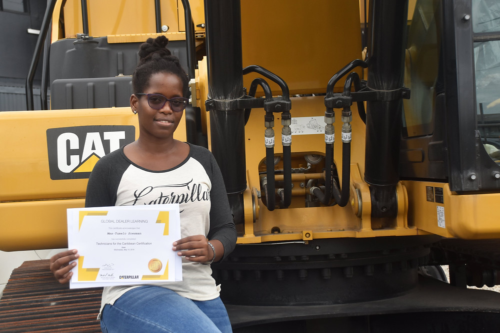 Female Technician. Technicians for the Caribbean