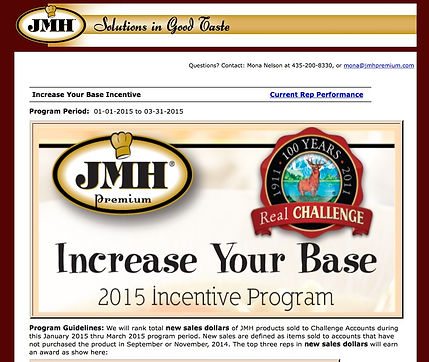 Incentive and Recognition Portal
