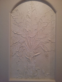 travellers palm carved