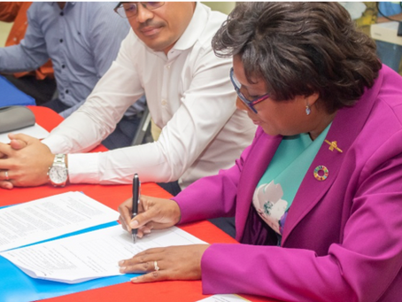 MACORP Promotes Technicians for the Caribbean - Signed MOU with Ministry of Public Telecom!