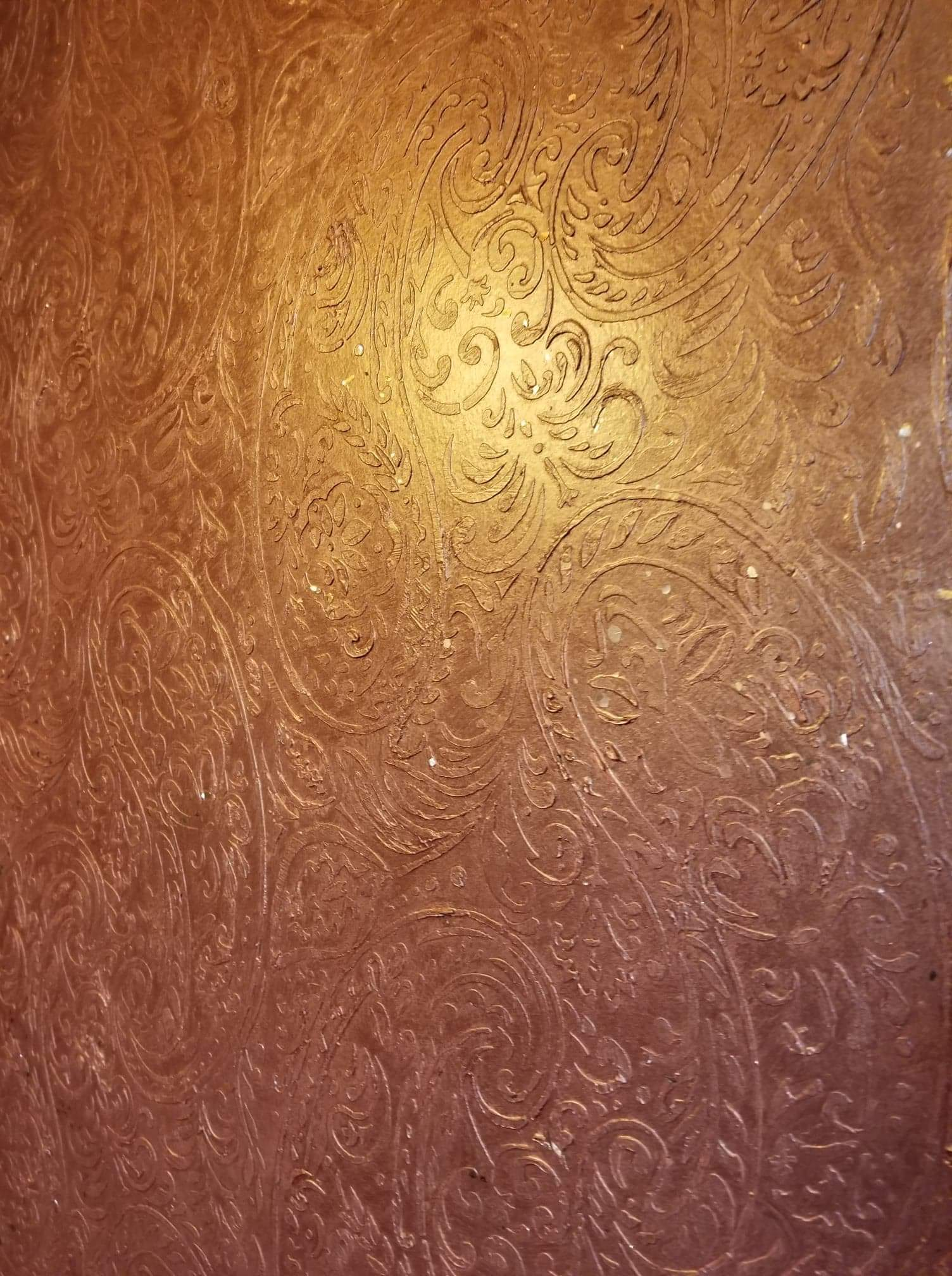 Hand tooled textured walls