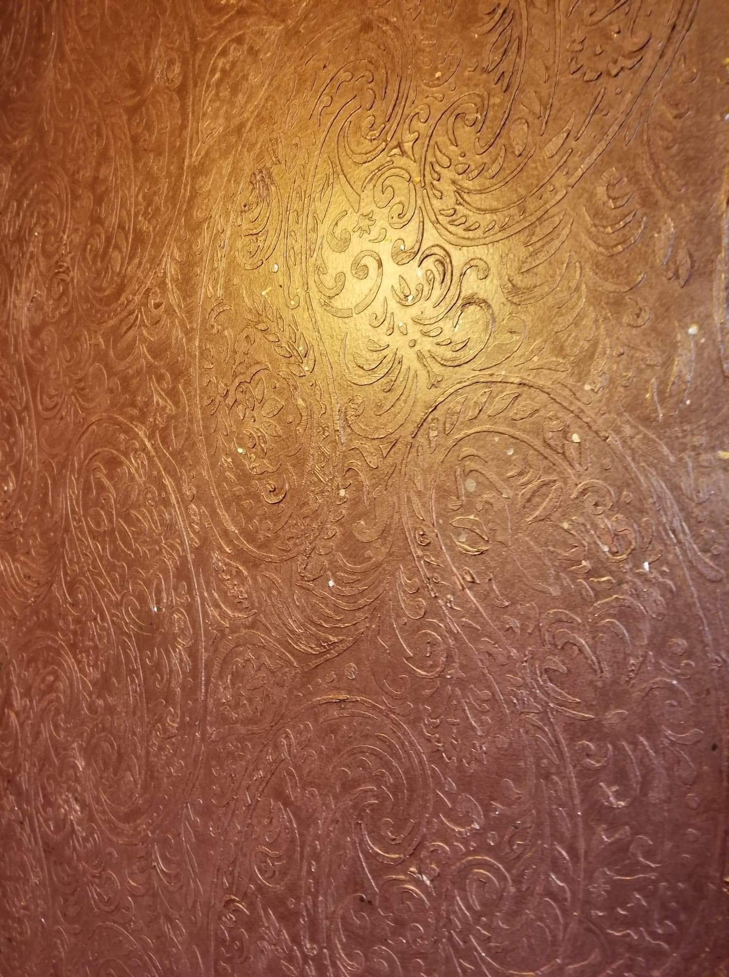 Hand tooled textured walls