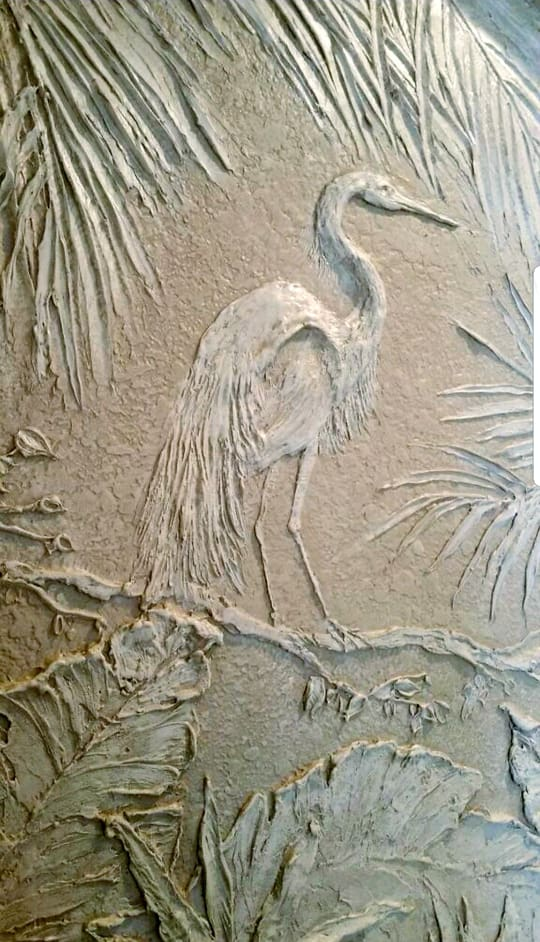 Carved Egret