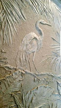 Carved Egret