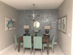 Beach Glass & Mica Dining Wall