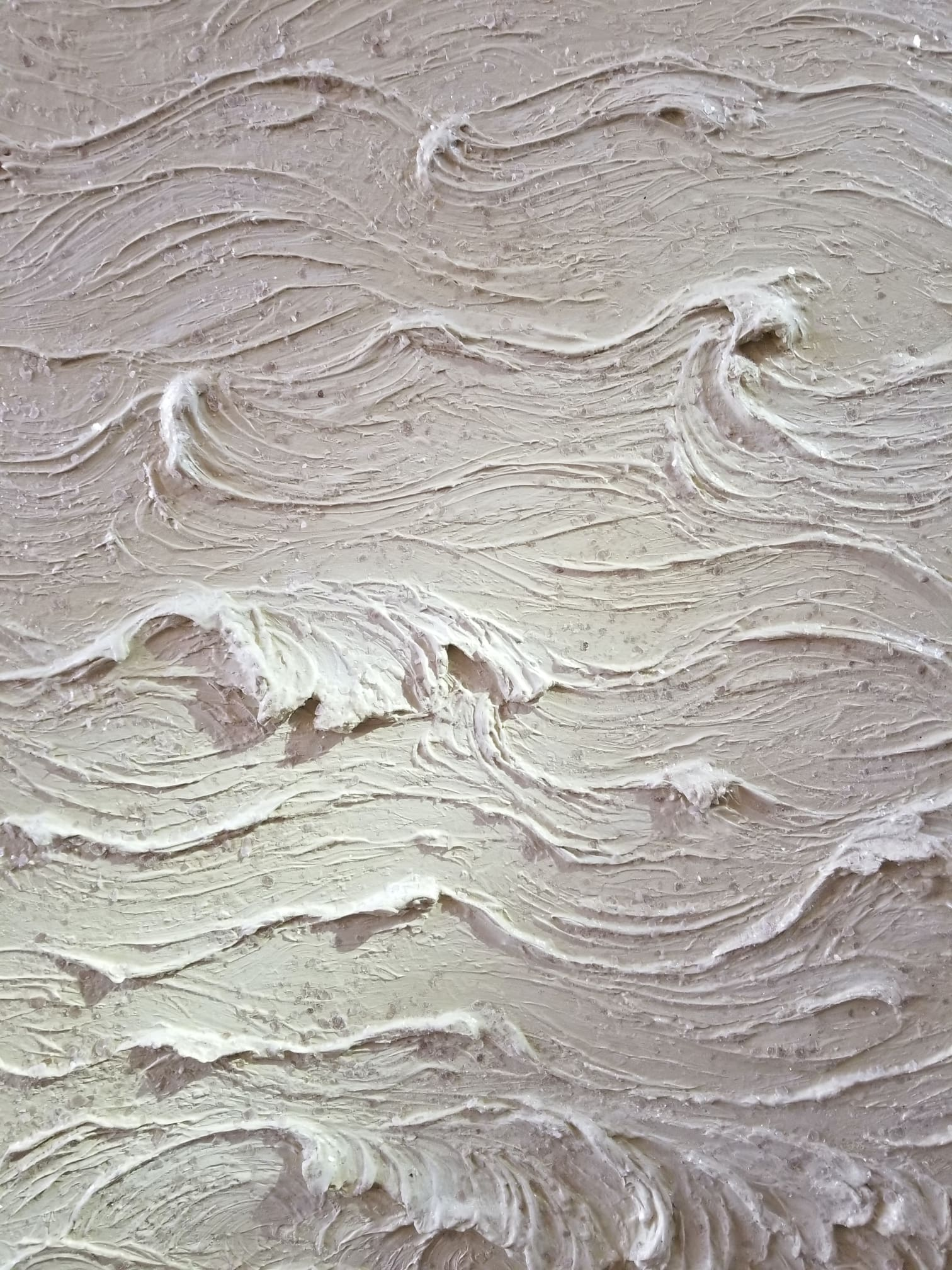 Carved Plaster Waves & Mica
