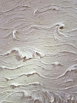 Carved Plaster Waves & Mica