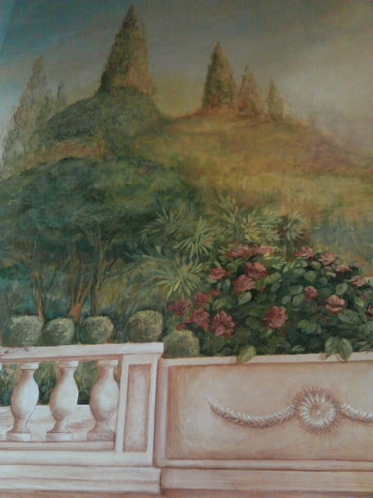 top left of mural